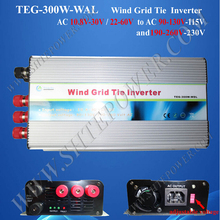 wind power 10.5-30v ac to ac 90-130v 190-230v three phase pure sine wave inverter 300w(China)
