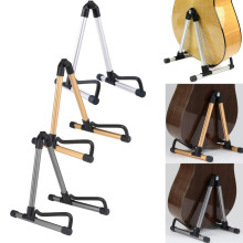 3 Colors Guitar Stand Universal Folding Electric Acoustic Bass Guitar Stand Professional A-Frame Floor Rack Holder High Quality(China)