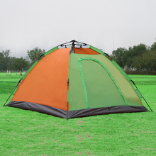 Automatic Tent Camping Hiking Tents 2 Person Fast Open Waterproof Rainproof 2 Layer 2 Door Quick Set Camping Tent(China)