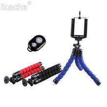 1/4 Screw Metal Mini Flexible Tripod+Bluetooth Remote Shutter+Phone Holder Clip For iPhone 4s 5s 6 Plus Galaxy S3/4/5 Note3