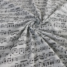 Musical Note Print Cotton Cloth Crafts Zakka Cotton Material Poplin