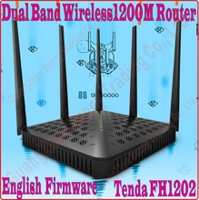 Eng-Firmware Tenda FH1202 Dual Band 2.4G&5G 1200Mbps 11AC Wireless WiFi Router, 5dBi Antenna X5,WDS Bridge, NO COLOR BOX,(China)
