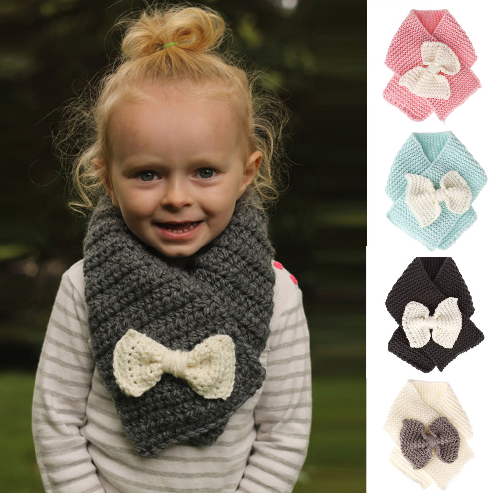 Winter Warm Baby Kids Girl Boy Collar Scarf Children Soft O Ring Neck Scarves UK
