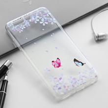Cell Phone Cases For Huawei P10 Plus Vicky Clear Soft Silicone TPU Phone Case 1MM Slim Painted Butterfly Back Covers Hot Selling