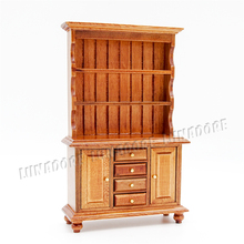 Odoria 1:12 Miniature Kitchen Cupboard with Working Drawer Wood Cabinet Closet Dollhouse Furniture Accessories