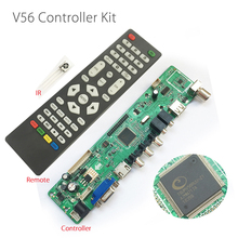 "Support 7-55"" V56 Universal LCD TV Controller Driver Board PC/VGA/HDMI/USB Interface USB play video/photo function Free Shipping(China)"
