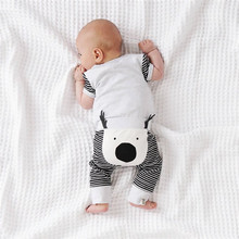 2017 Fashion Newborn Baby Boys Girls clothes cotton casual Leggings Cartoon Harem Bottoms Pants one pieces(China)