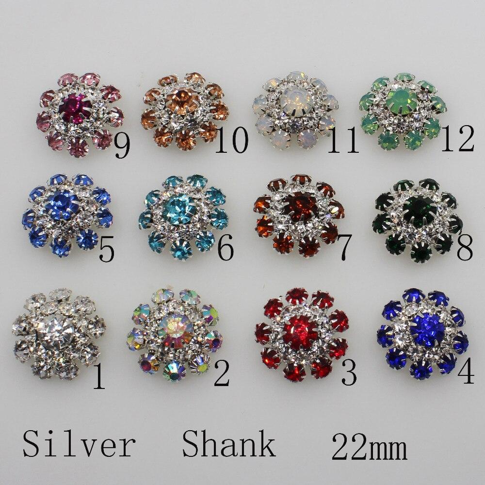5pcs Handmade Decorative Crystal Diamante Rhinestone Buttons Wedding Crafts