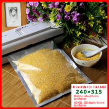 5 pcs 24x32cm Large Good Barrier Aluminium Foil Food Packaging Bags with Clear Front / Snack Vacuum Alu Bags