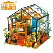 3d Wooden Puzzle Diy Handmade Furniture Miniature Dollhouse Building Model Home Decoration Assemble Doll House Kid Birthday Gif