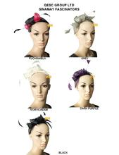 2017 NEW Simple Sinamay Feather Fascinator Bridal Fascinator hair accessory for Kentucky derby and wedding .can pick the color.
