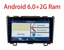NEW! Android 6.0 2 DIN 9 inch Quad Core Car dvd Video GPS For Honda CRV 2006-2011 Capacitive screen 1024 *600+wifi+2G RAM+4G+SWC