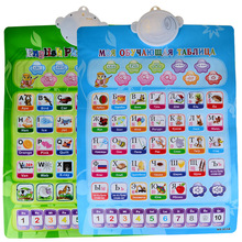 1 PC Double Sides Bilingual Russian and English Language Talking Chart Learning Toys(China)