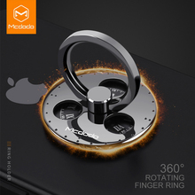 Mcdodo Finger Ring Phone Holder Spinner Stand Grip Metal 360 Degree Support Universal for iPhone 8 Samsung S8 Xiaomi Redmi 4x(China)