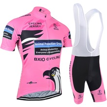 Bxio Breathable Women Cycling Clothing Eagle Bike Sportswear Summer Short Sleeve Bicycle Jersey Pink Jerseys Hot Popular R067