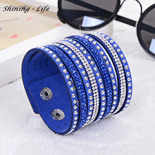 2016 Newest Sell Like Hot Cakes Fashion Charm Double Circle Multilayer Leather Bracelets Men&Women Bracelet Wholesale !(China)
