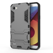 Buy LG Q6 case Rugged Impct Iron Man Hybrid Armor Back Cover LG G6 V30 Luxury Shockproof Stand Holder Coque Fundas for $2.60 in AliExpress store