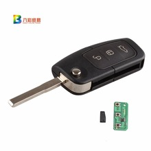 FGHGF 3BTN Keyless Entry Remote Key Fob 433MHz With Chip 4D63 For Focus Mondeo C Max S Max Galaxy Fiesta HU101 Blade with logo