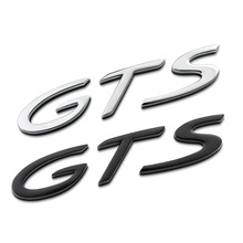 GTS Separate Letters Full Metal Zinc Alloy Car Styling Refitting Emblem Tail Badge Sticker for Cayenne Macan Panamera SUV Sport