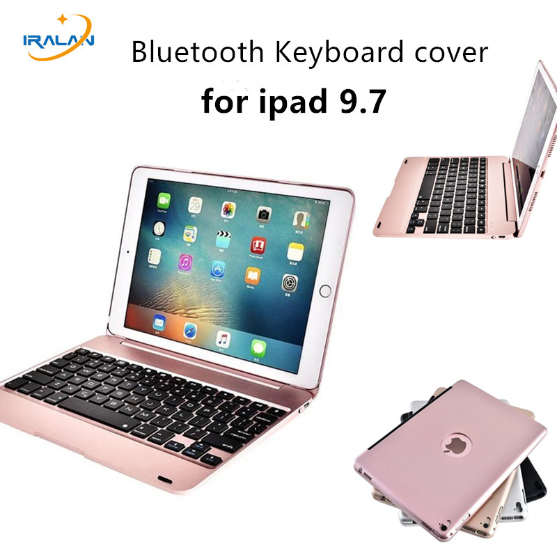 HOT 4 Colors Full Body ABS plastic Bluetooth Keyboard Cover With Stand Case For apple iPad Pro 9.7 inch +pen+film Christmas gift<br>
