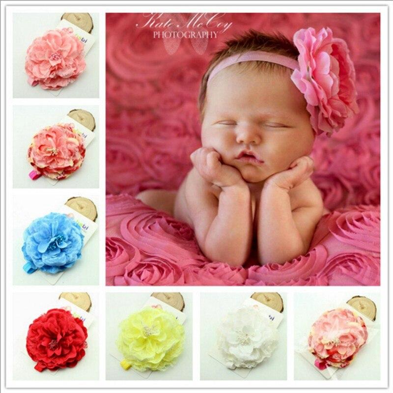 Big peony Flower Headband Photo Prop photography prop Baby girl headbands hair bows<br><br>Aliexpress