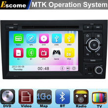 MTK3360 Car DVD Player For AUDI A4 2002-2007 Audi S4 RS4 8E 8F B9 B7 RNS-E with 800MHz CPU Dual Core Bluetooth Radio GPS