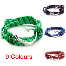 2017 New Tom Hope Anchor Bracelet Ancre Marine Cuir Homme Pulsera Ancla Fashion Leather Bracelets for Mens Women Jewellery F2835