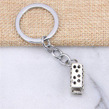 2pcs New Fashion Chrome plated Key Rings & Silver Color Metal Vintage bus car Key Chains Accessory