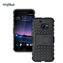 WolfRule For Case HTC 10 Cases Cover Hard Plastic Armor Shockproof Rubber Phone Case For HTC 10 Case For HTC One M10 Holder Capa(China)
