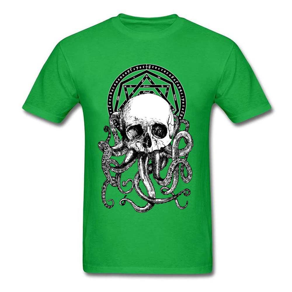 Pieces of Cthulhu Family Adult T Shirt O Neck Short Sleeve Pure Cotton Tops Shirts Geek T Shirt Wholesale Pieces of Cthulhu green
