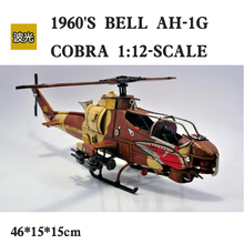 Home Bar Decoration 1960's Bell AH-1G COBRA Helicopter Iron Plane Models Rare Collection Aircraft Model