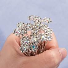 20 Pcs /set Fashion Wedding Bride Hair Pins Headwear Shiny Hair Pins Headwear Bridesmaid Hair wear Jewelry Hair Accessories(China)