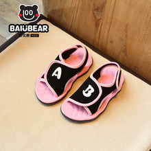 2017 New summer children beach sandals boys fashion kids shoes for girls non-slip sandalias infant girls shoes brand boy shoes(China)
