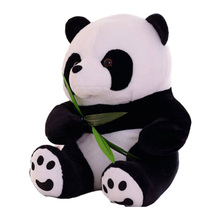 2017 Panda Plush Doll Mini Stuffed Animal Soft 16CM Fuzz Giant Panda Curtain Clip Bookmark Notes Souvenir Toys for Children Gift(China)