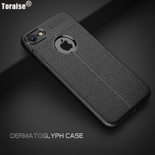 Buy Toraise Luxury Leather Veins Soft TPU Back Cover Case iPhone 8 Plus iPhone 7 7Plus 6S Plus 6 Phone Bag Funda Coque Capa for $3.99 in AliExpress store