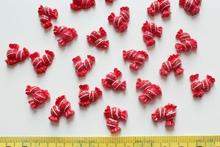 200pcs Resin red double dotted Candy Sweets Cabochons (15mm) Cell phone decor, hair pin, rings DIY handpaint
