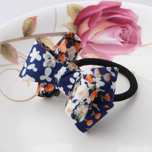 2017 New Arrival Girls Ribbon Hair Accessories  Flower Headwear Sweet Hairbands  Floral Rubber Bands Women Elastic Hair Bands