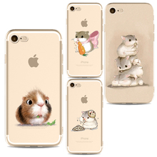 Buy Lovely Small Hamster Mobile Phone Cover Cases iphone 6 6s 6Plus 7 7s 7plus Soft Slim TPU Honey Sweet Phone Cases for $1.05 in AliExpress store