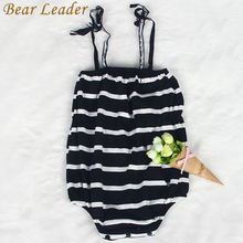 Buy Bear Leader Baby Rompers 2017 New Summer Style Baby Girls Clothes Cotton Striped Print Newbron Clothes 4-24months Kids Jumpsuit for $6.99 in AliExpress store