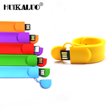 Hot selling Silicone Bracelet Wrist Band 4GB 8GB 16GB 32GB 64GB USB 2.0 USB Flash Drive Pen Drive Stick U Disk Pendrives gift(China)