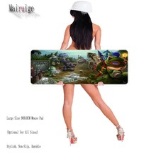 Free Shipping  900MM League of Legend Large Keyboard Mat Professional Quality Anti-slip Natural Rubber Speed Mouse Pads As Gift