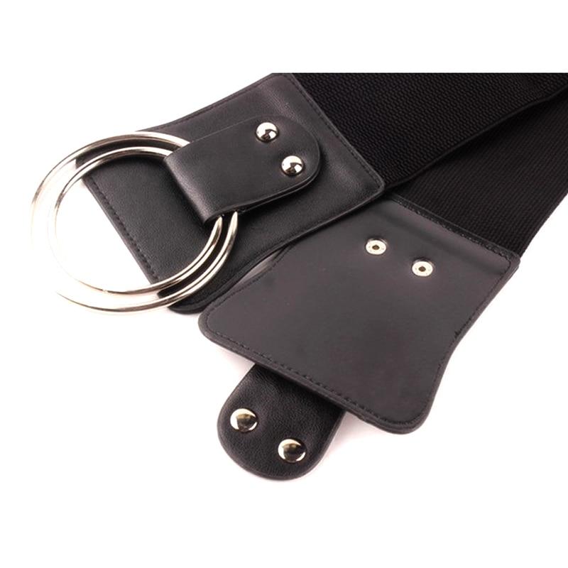 New Women Wide elastic Belt metal Ring Fashion Simple Female For Women Dress Down Jacket Skirt wide Waist Female Belt