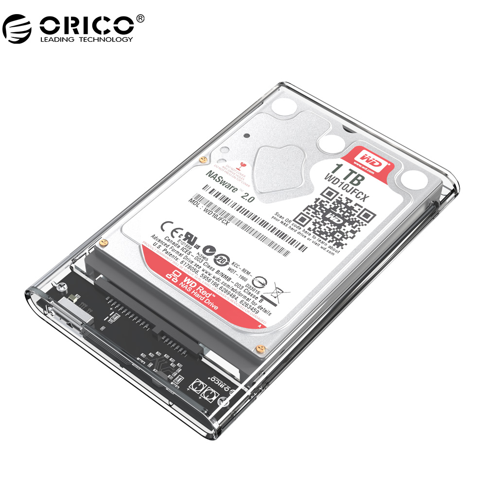 ORICO 2139U3 Hard Drive Enclosure 2.5 inch Transparent USB3.0 Hard Drive Enclosure Support UASP protocol(China)