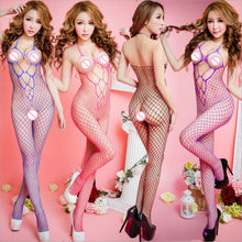 2017 New Women Sexy Lingerie Sexy Bodystockings transparent Open Crotch Teddies/Bodysuits Luru netting Sex toys Whole body socks
