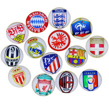 28pcs 14mm Spanish Football Tag Cartoon pattern Round Diy Handmade Jewelry Photo Glass Cabochons & Glass Dome Bead Settings