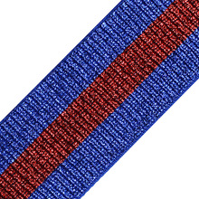 5yard Shiny Blue Red Fabric 49mm Elastic Stretch Ribbon Tape Band Belt Clothing Triming for Clothes Bag Sewing Supplies T2542