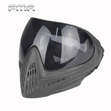 FMA F1 Safety Anti-fog Protective Goggle Outdoor Airsoft Full Face Mask with Black Lens Paintball Masks Accessories