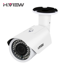 H.View IP Camera POE 4mp 2.8-12mm Vari-focal Lens Outdoor CCTV Cameras with Audio Input Connector iPhone Android Remote Access