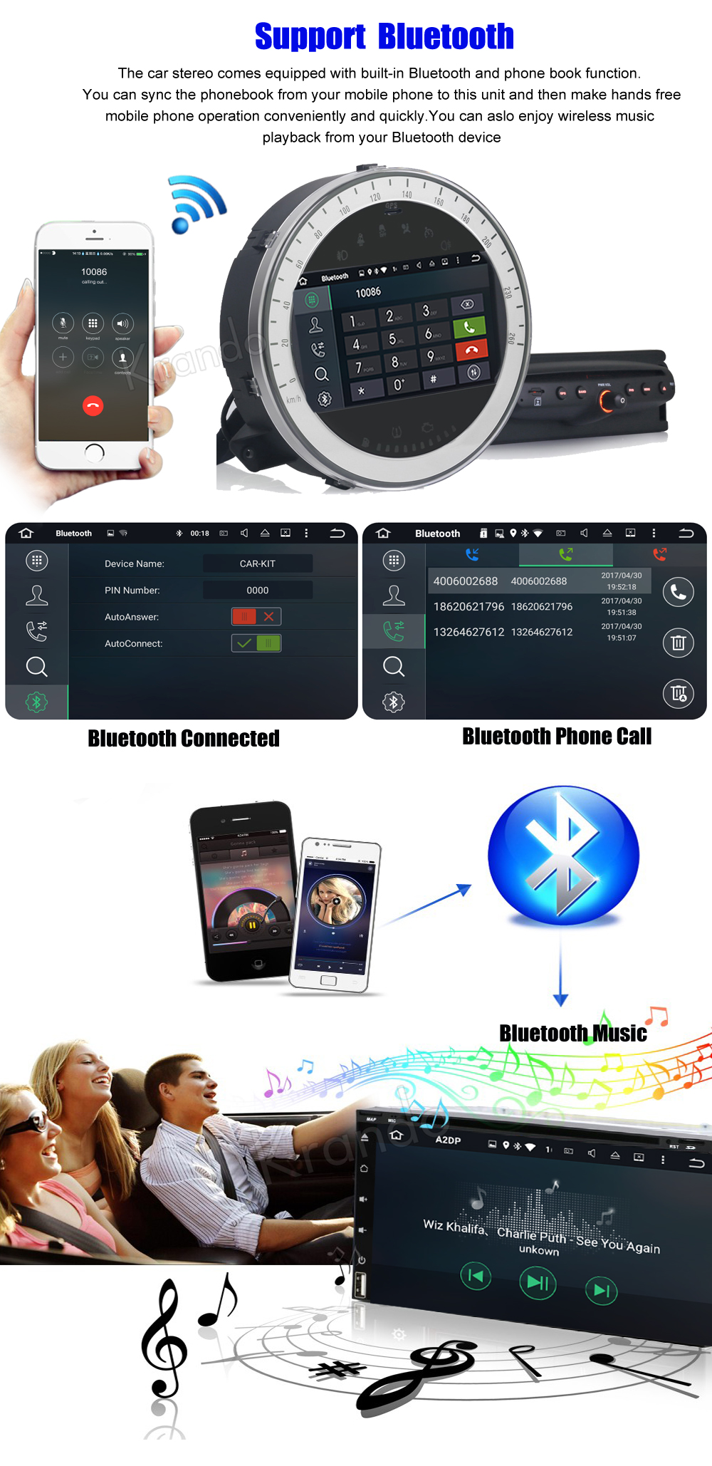 krando android car radio gps for BMW Mini Cooper navigation multimedia system