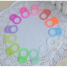 100Pcs/Set Mixed Color Silicone Baby Pacifier Adapter Rings Dummy Pacifier Holder Clip Adapter chain Pacifier Holder for NUK MAM